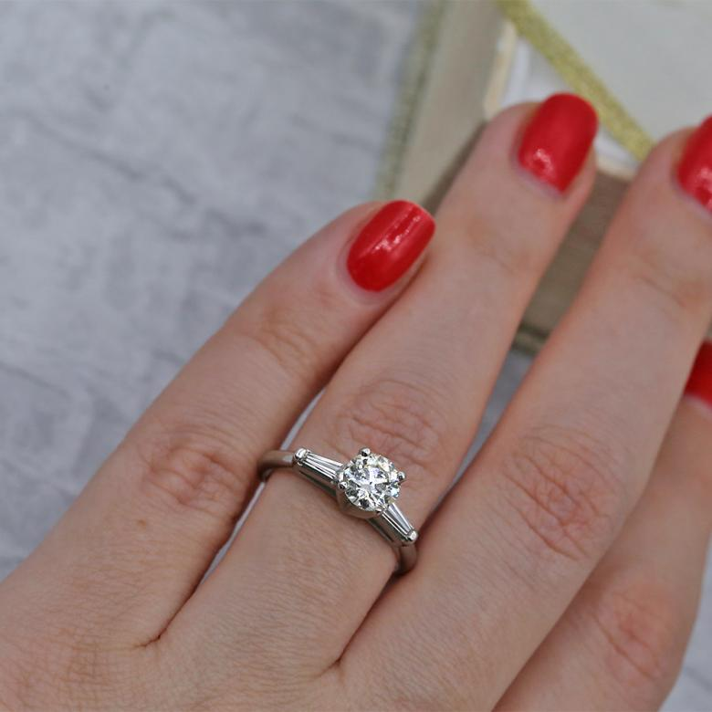 Precious Platinum Engagement ring