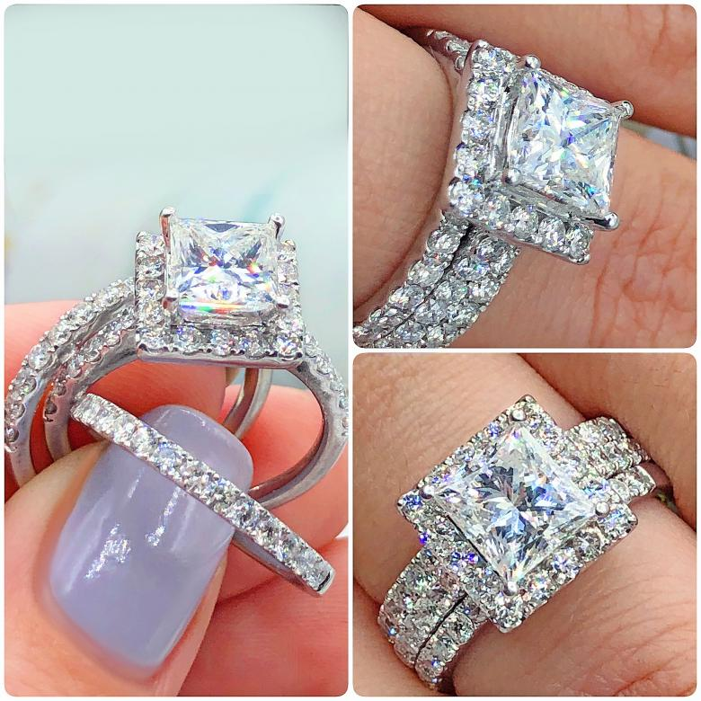 Certified  engagement ring