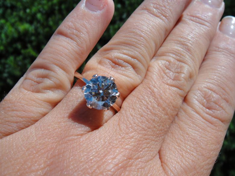 Rose gold Solitaire 1.50