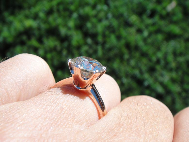 Rose gold Solitaire 1.51