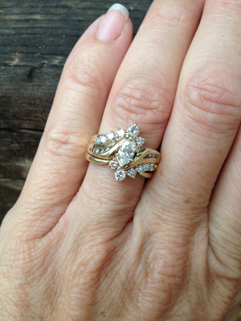 Marquise Ring with surrounding