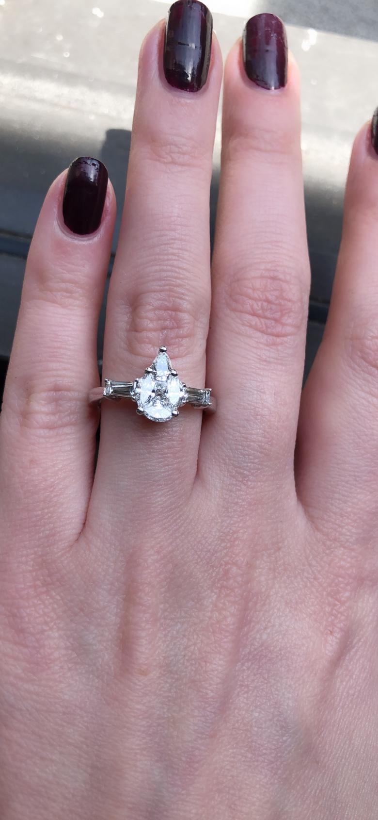 Engagement Ring with 1.22