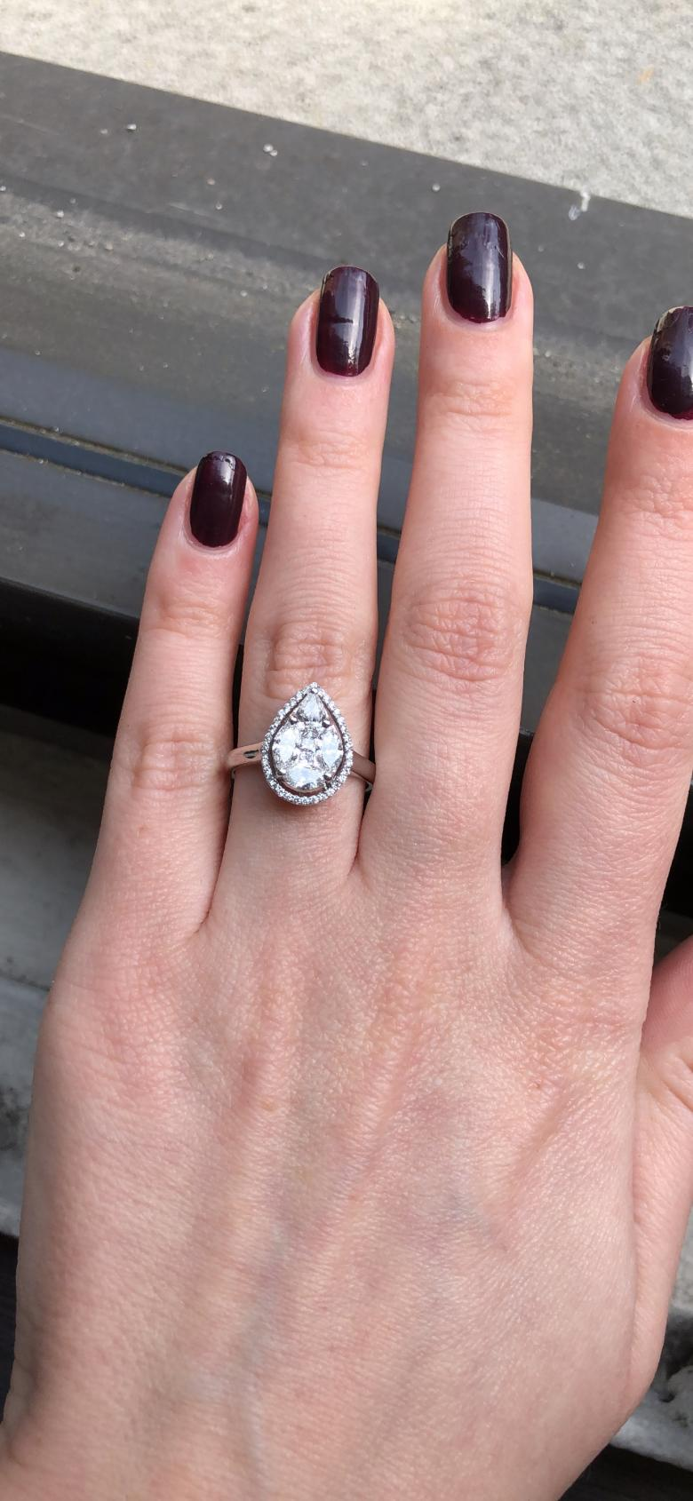 Pear Shaped Engagement Ring