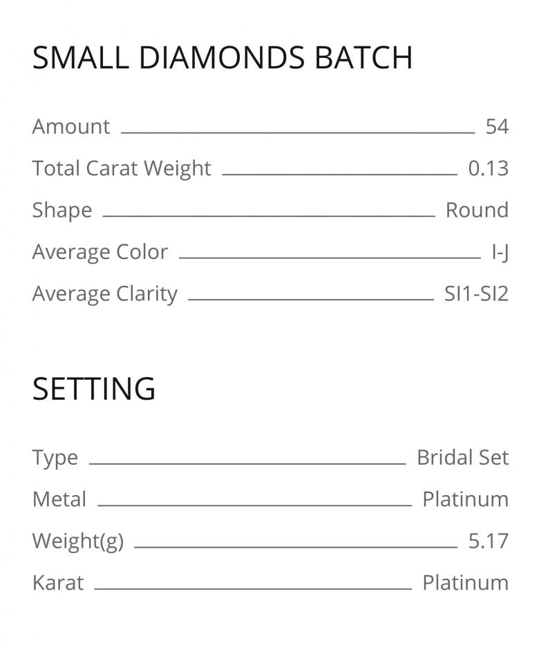 Platinum Bridal Set with