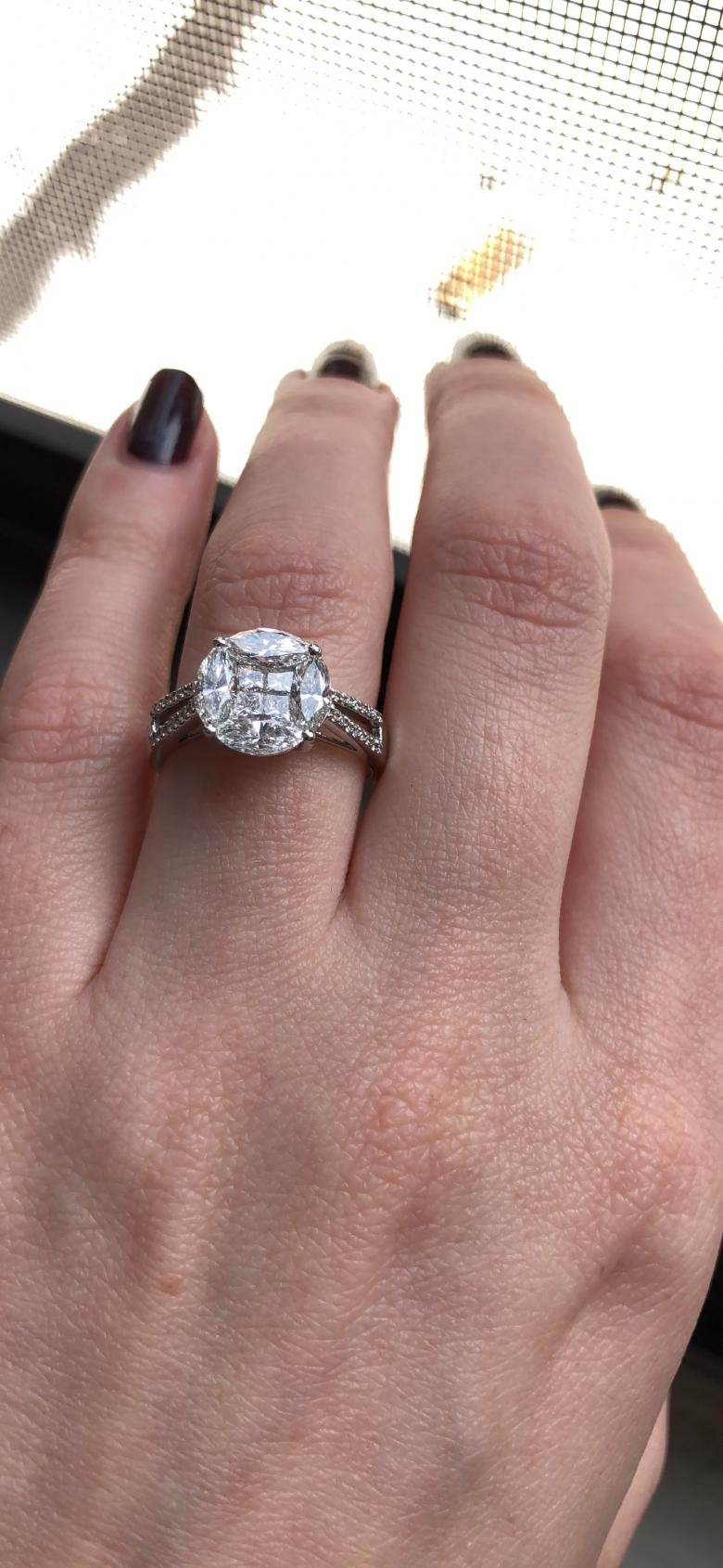Natural Diamond Ring with