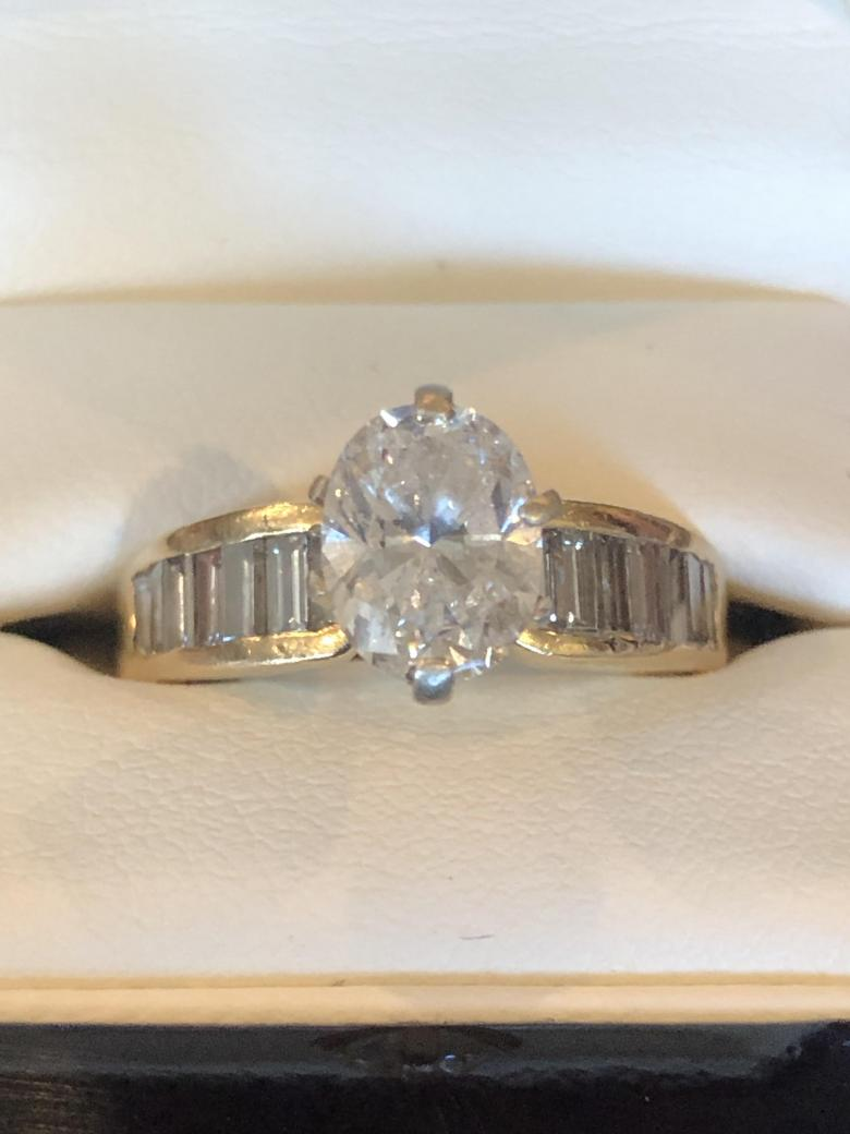 Ladies 14K 2.5ct Diamond