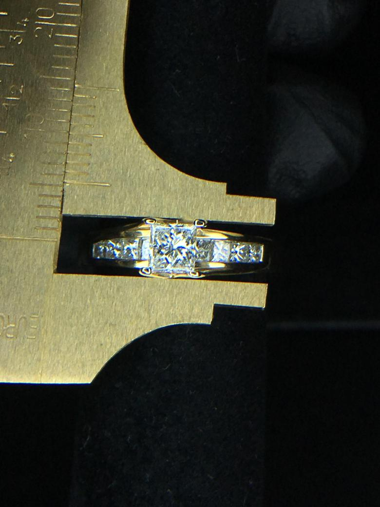 14kt Princess Cut Diamond