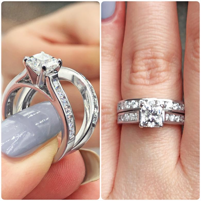 Engagement Ring with 2.56