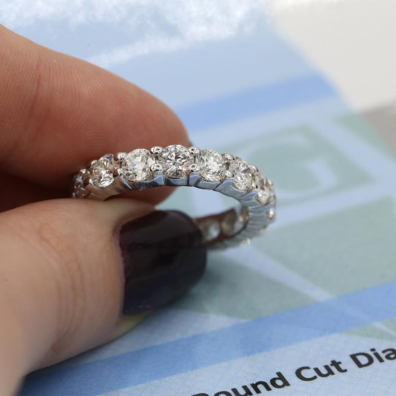 Natural Diamond eternity band