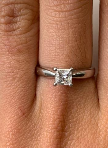 Ritani Platinum Princess Solitaire