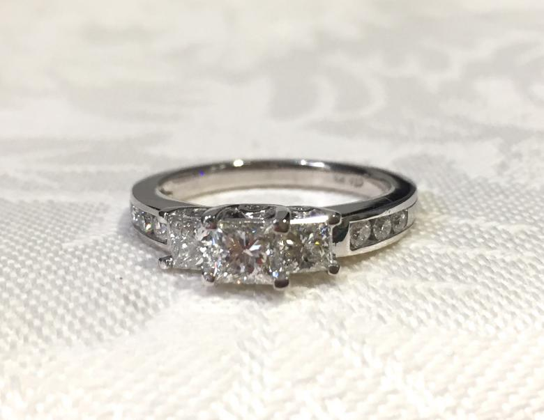 Vintage Princess Cut Diamond