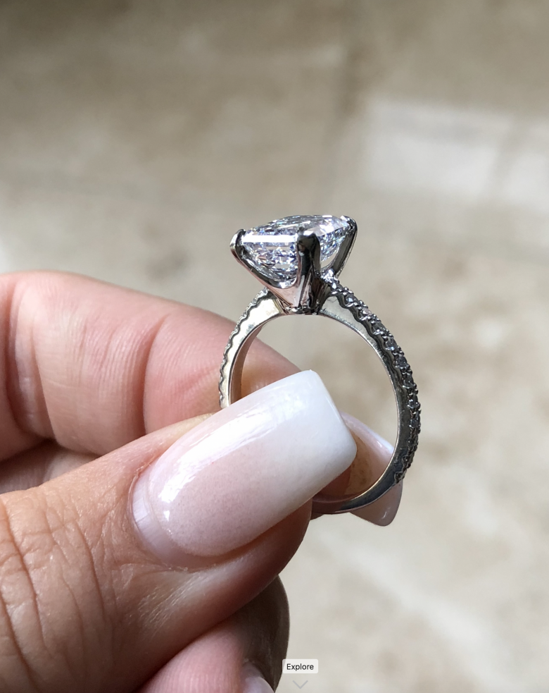 Emerald Cut Diamond Solitaire Gia Certified I Do Now I Don T