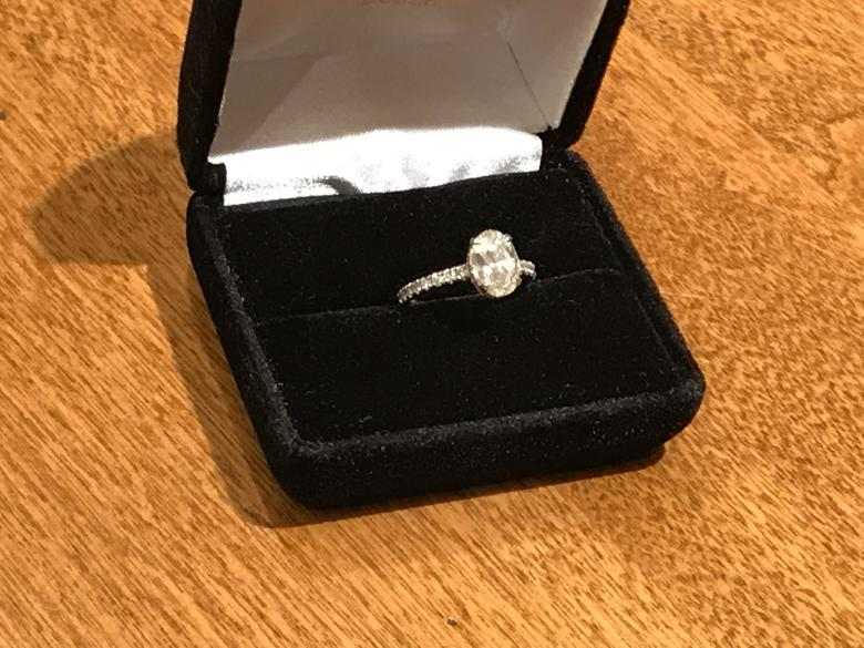 Oval Engagement Ring with