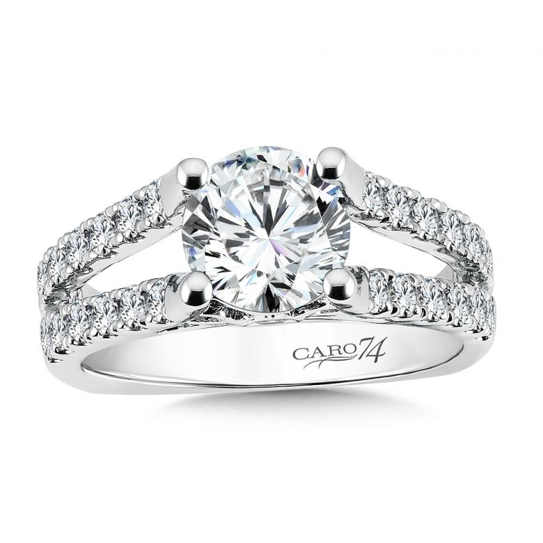 Caro-74 Platinum Round Diamond