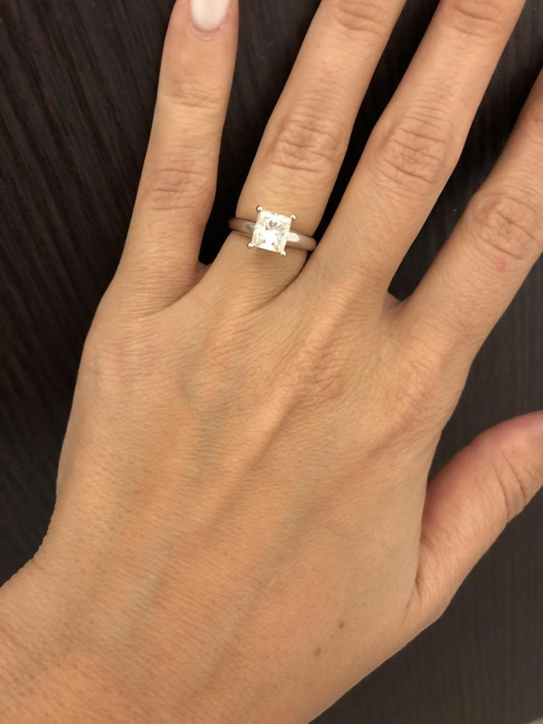Jared Solitaire Princess Cut Diamond Ring I Do Now I Don T
