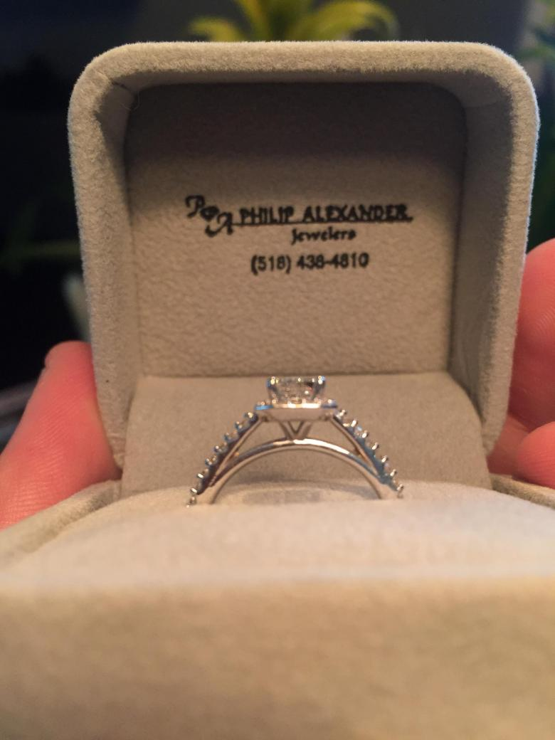 1.01ct Radiant cut Engagement