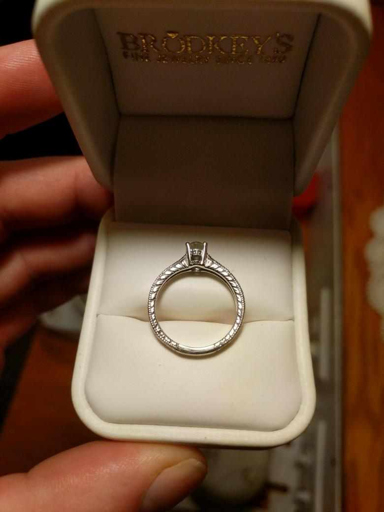 Gorgeous .62ct Oval Ring