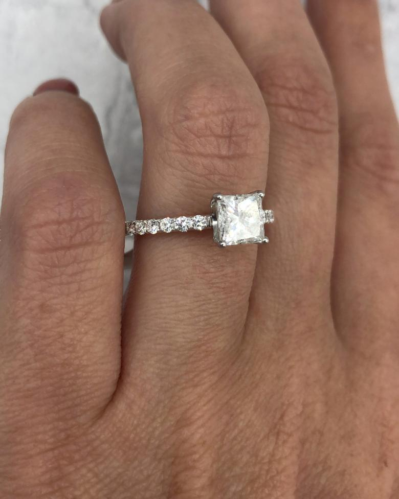 Custom made Platinum Engagement