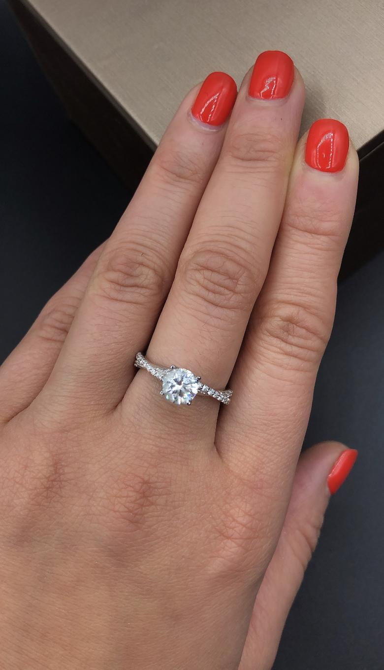 14k White Gold Engagement