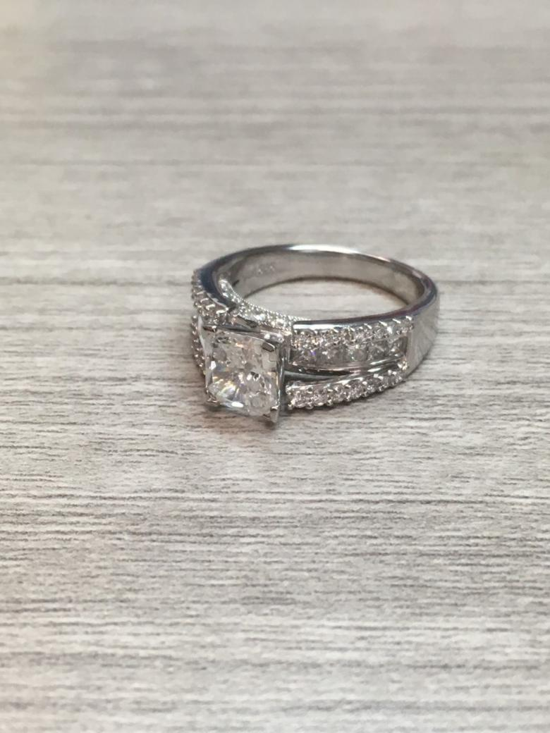 RADIANT DIAMOND ENGAGEMENT RING