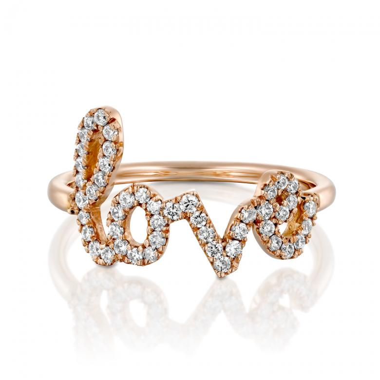 Love ring 18k YG