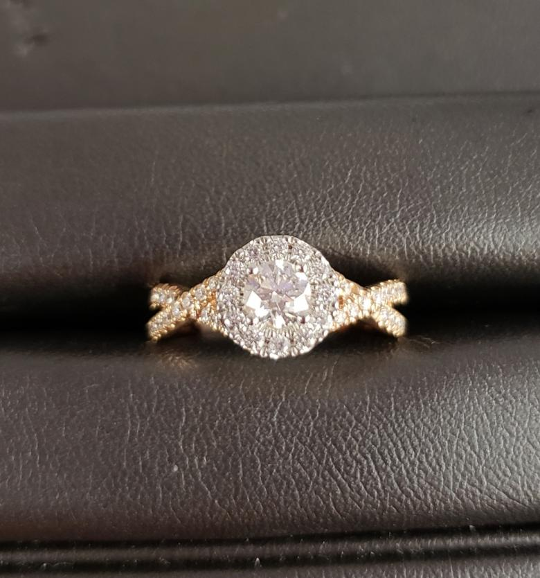 Halo Round Diamond Engagement