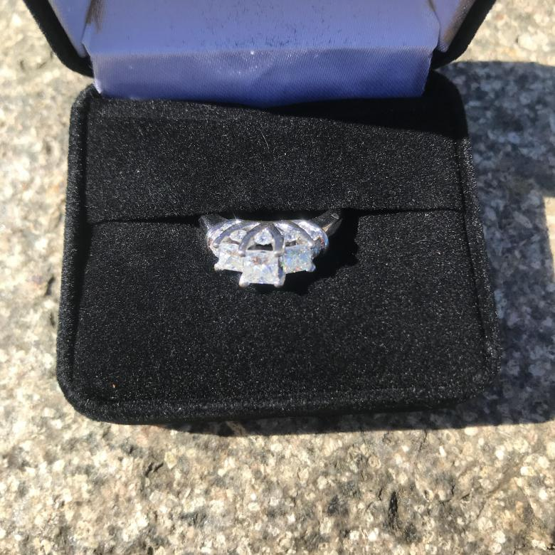Three Stone Princess cut