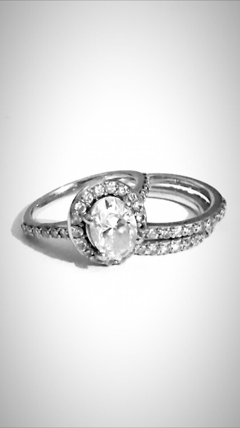 Oval Shaped Diamond Engagement
