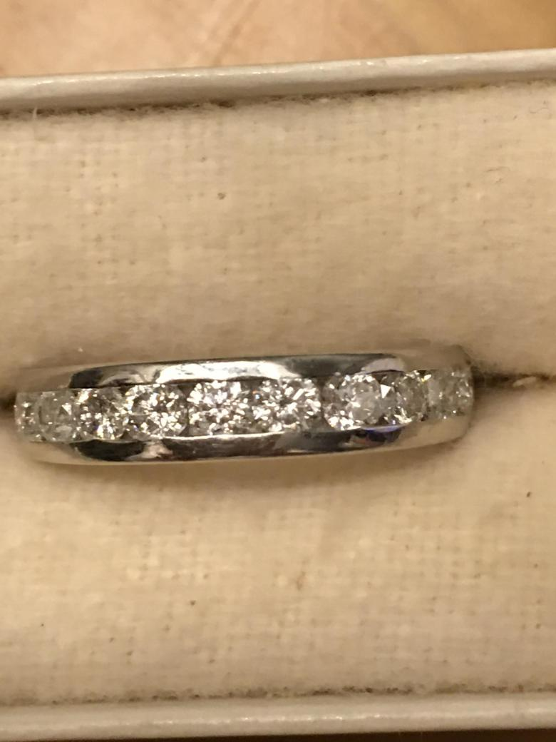Two Carat Beautifully Clear Solitaire Set In Platinum I