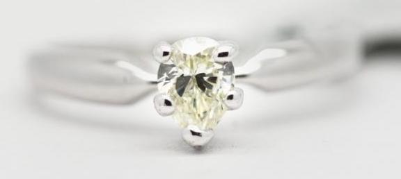Pear Brilliant Diamond Ring