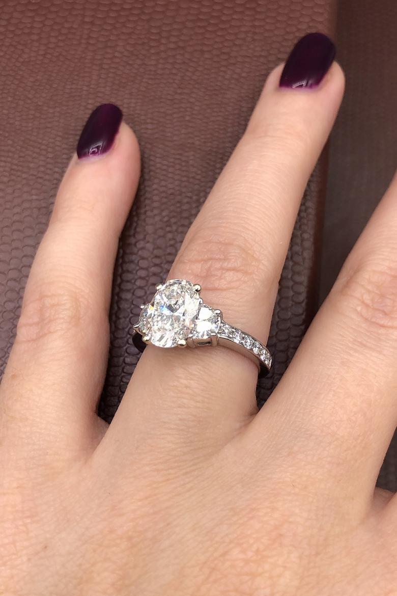 Unbelievable three stone engagement