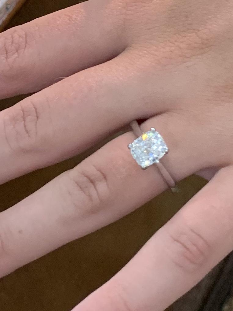 2.02 Cushion Solitaire Engagement