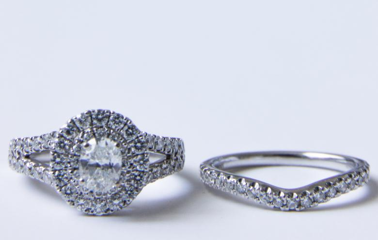 Gorgeous Oval Double Halo