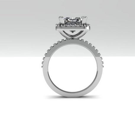 Halo Asscher  Cut