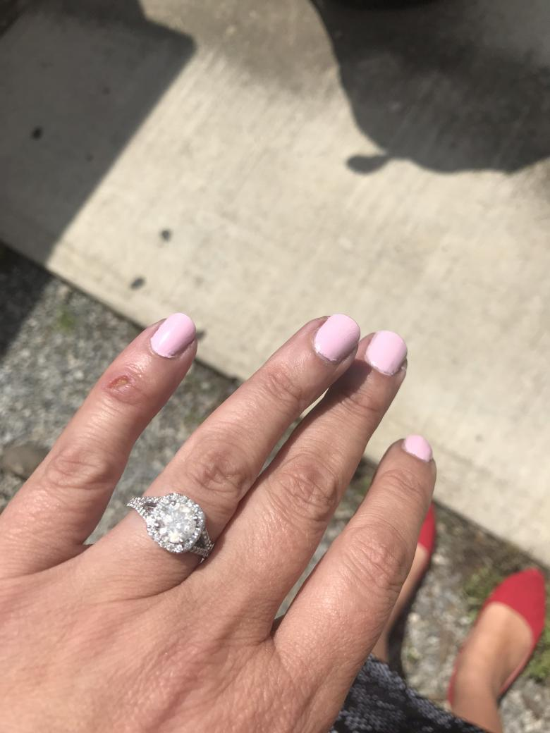 Gorgeous halo engagement ring
