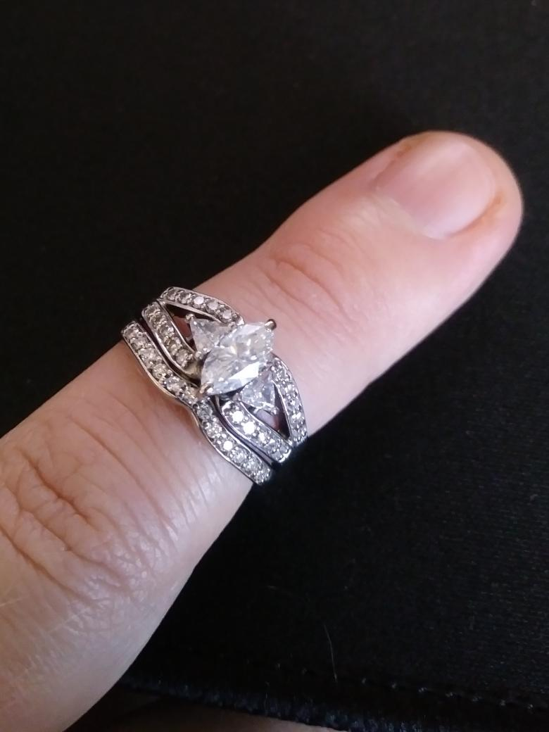 0.74ct engagment ring with