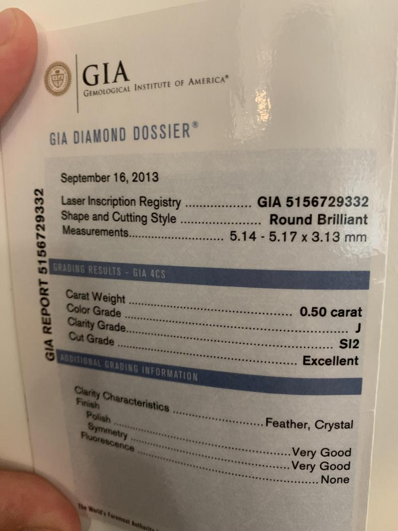 GIA Certified Halo Engagement