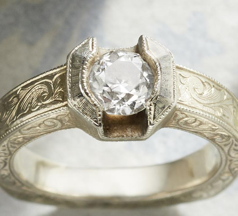 Vintage Engagement Ring with
