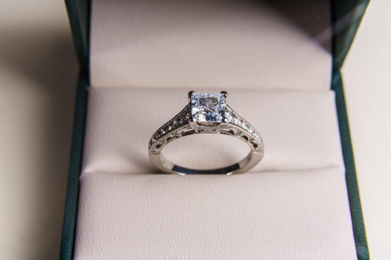 Tacori platinum diamond engagement