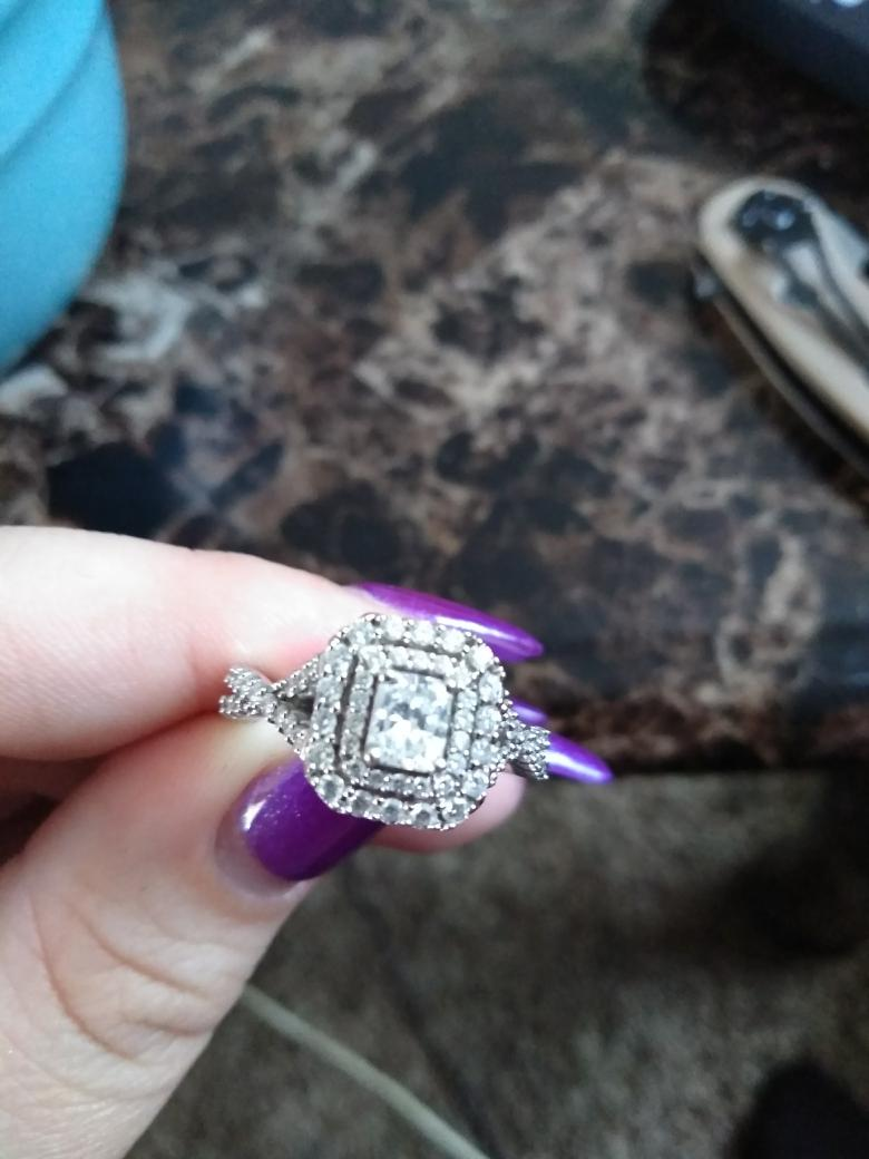14KT white gold double