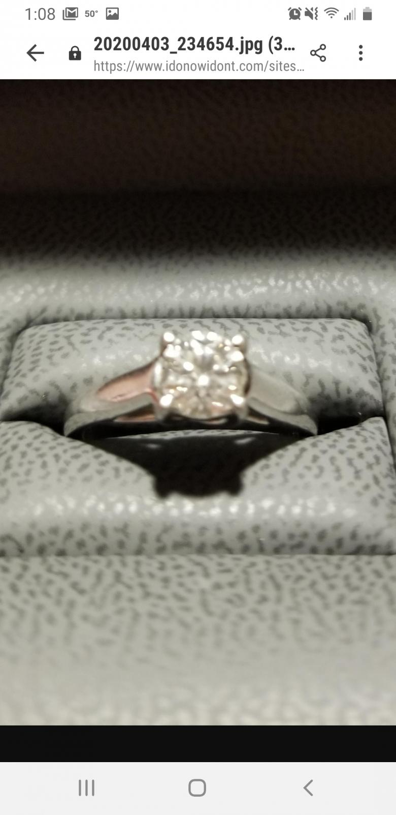 Tolkowsky Solitaire Enagement Ring