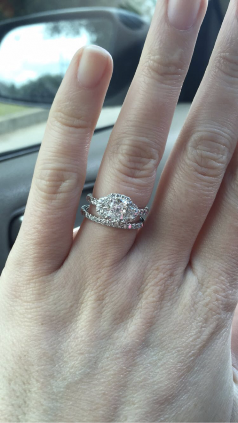 Beautiful 3 stone engagement