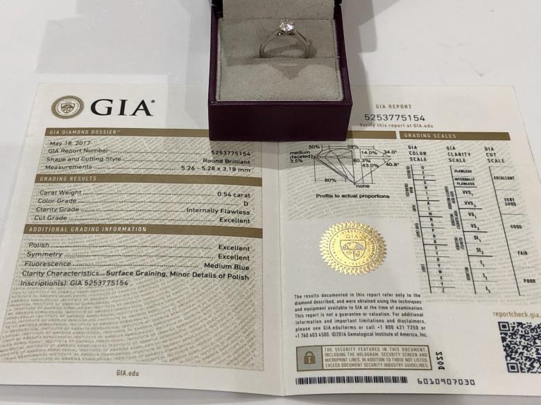 **VIDEO** GIA Certified 0.54ct