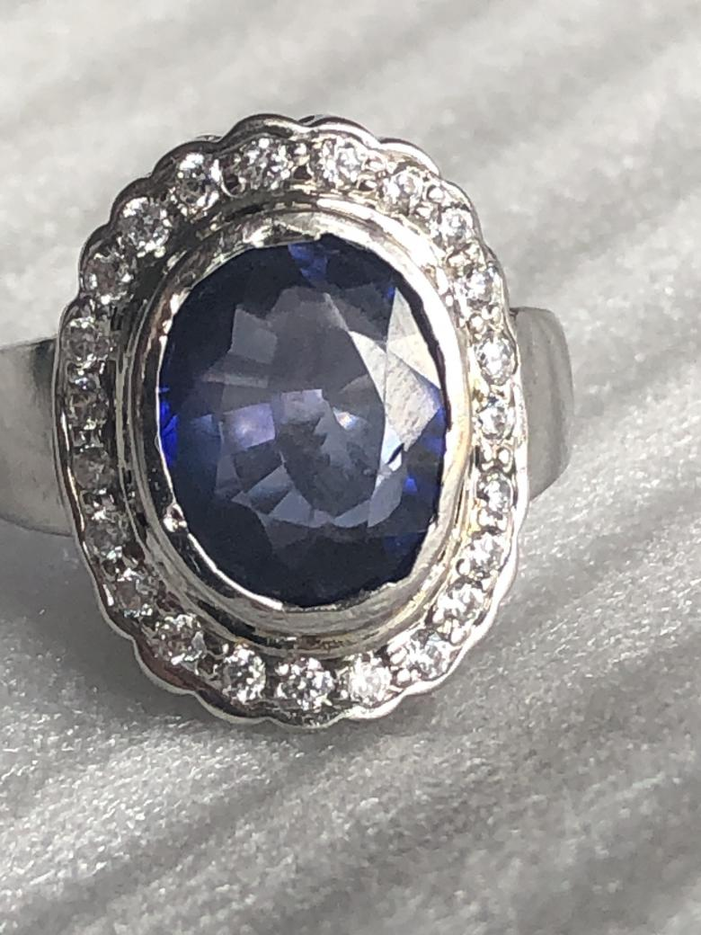 IGI Certified 7.89ct Blue