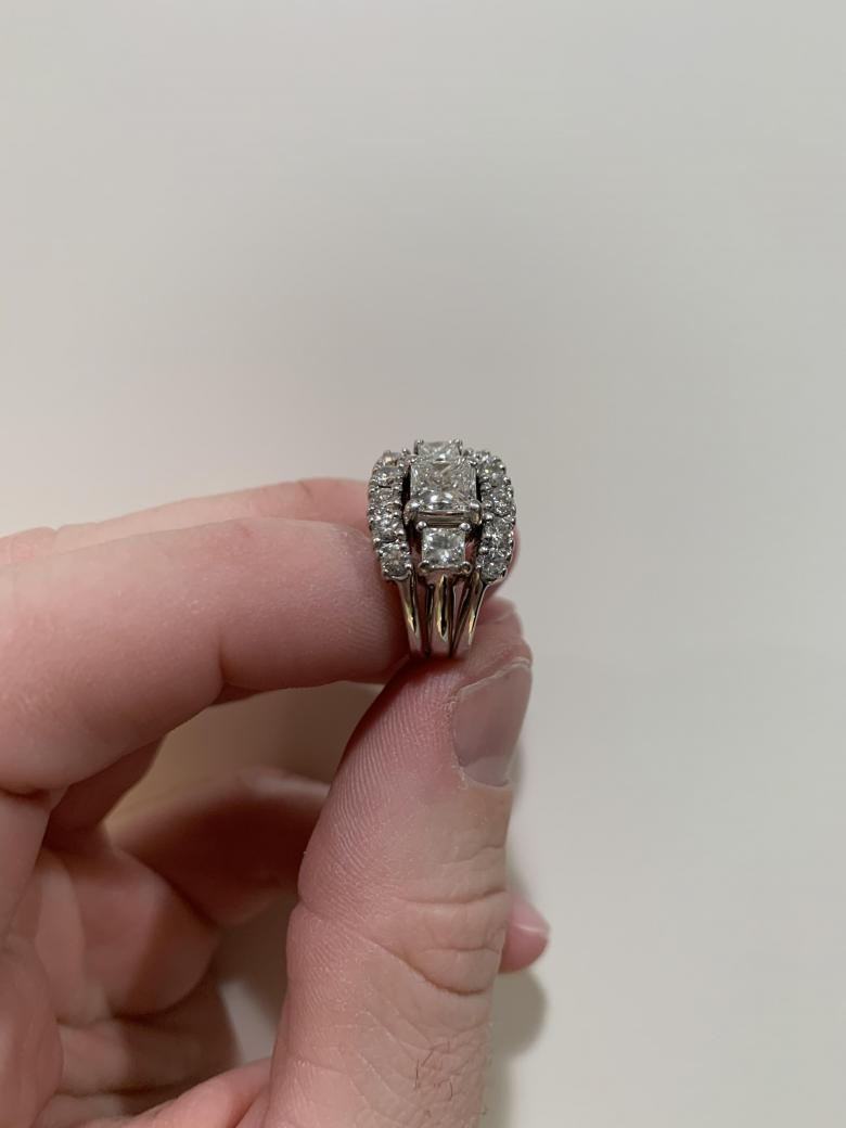 Diamond Engagement Ring, 14K