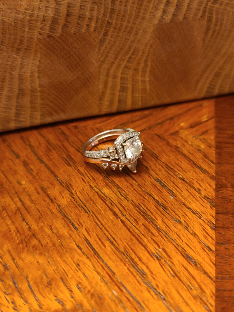 Unique engagement ring and