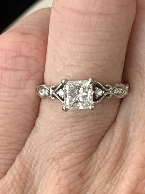 Vintage Heart Princess Cut