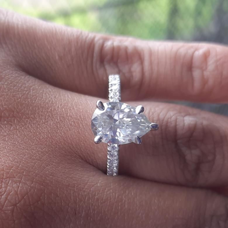 14K White Gold Plated,