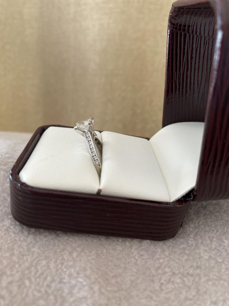 .96 carat princess engagement
