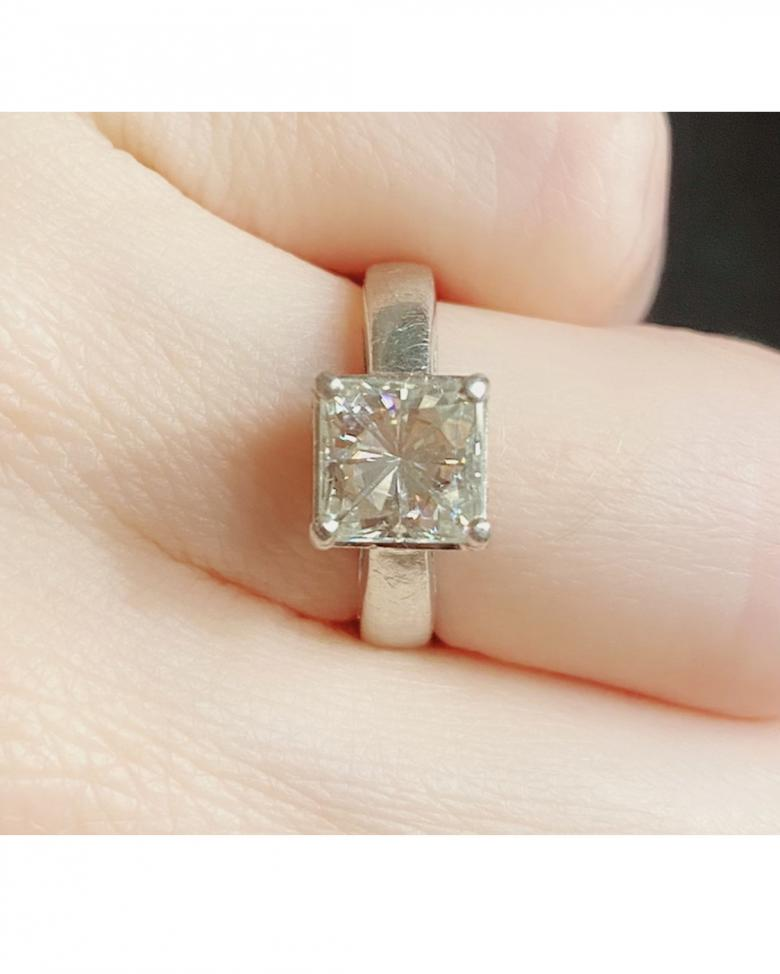Princess Cut Vintage-Inspired Bridal